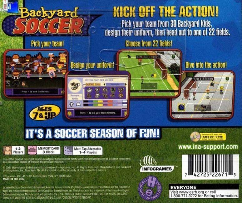 Ps1   Backyard Soccer   Patch   Frete Barato