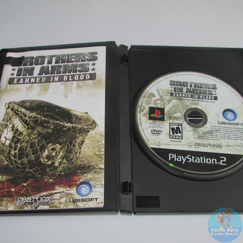 ps2 brothers in arms earned in blood original americano completo black label!