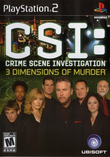 ps2  c.s.i. 3 dimensions of murder   envio gratis  nuevo