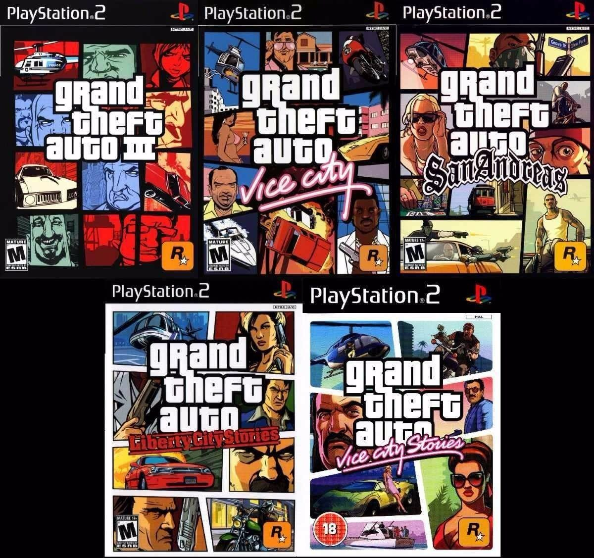 Ps2 Saga Grand Theft Auto Gta 5 Juegos Para Play 2 170 00 En