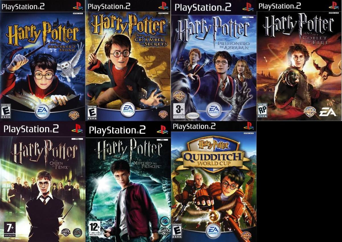 Ps2 Saga Harry Potter Para Playstation 2 7 Juegos 170 00 En