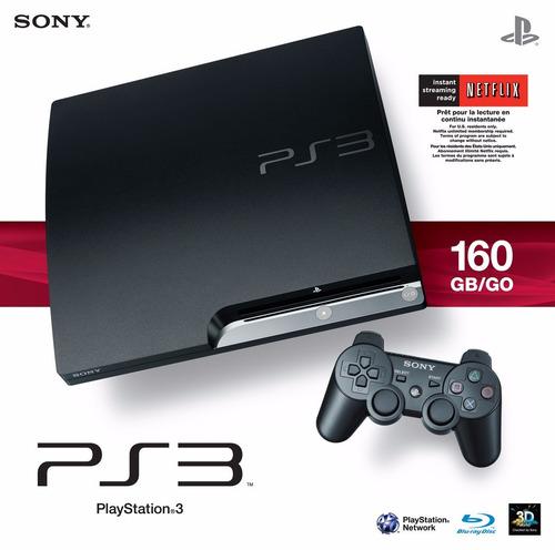 ps3 160 gb + 1 joystick nuevo + 6 juegazos!!