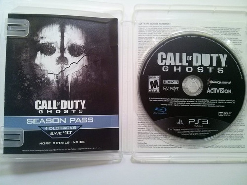 ps3 call of duty ghosts $235 pesos - seminuevo mikegames