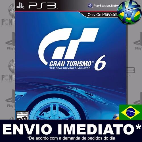 ps3 gran turismo 6 código psn português envio agora