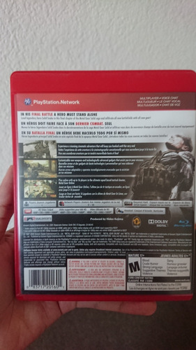 ps3 metal gear solid 4: guns of the patriot