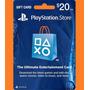 Psn Card 20 Usd - Playstation Network Card