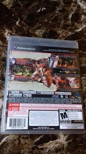 ps3 playstation 3 juego the cursed crusade excelente estado