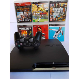Ps3 Playstation 3 Slim  ,controle Gta V, Pes, Fifa 19