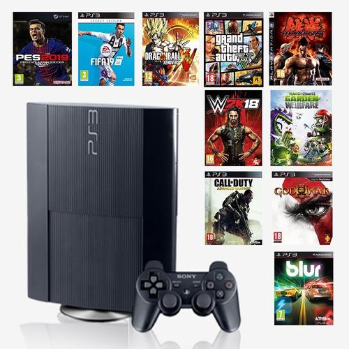 ps3 playstation super slim 500gb juegos