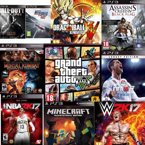 ps3 slim+10 juegos digitales