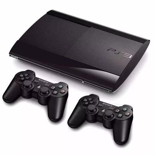 ps3 slim 500 gb + 60 jogos + 2 controles + fifa 17 + gta 5