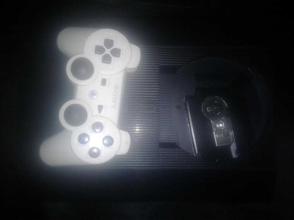 Ps3 Super Slim 320 Gb Control Blanco 220000 En Mercado Libre Sony Playstation 3 Cargando Zoom