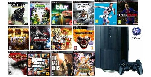ps3 superslim 500 gb +juegos al escojer envio todo perú..
