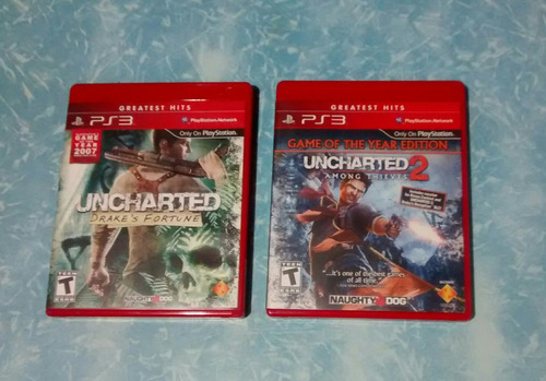 ps3 uncharted 1 y 2 - dual pack