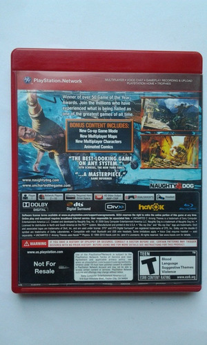 ps3 uncharted 2 among thieves goty $299 seminuevo mikegames