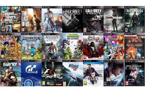 ps3carga de juegos digitales 10 juegos x 800$