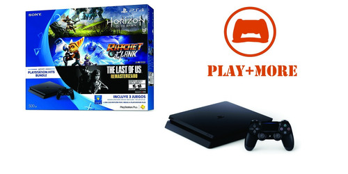 ps4 500 gb + 3 juegos soloxhoy play+more