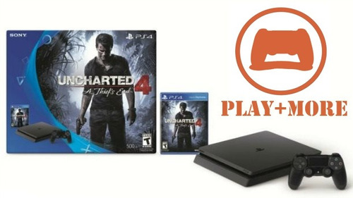 ps4 500gb uncharted 4 edition play+more