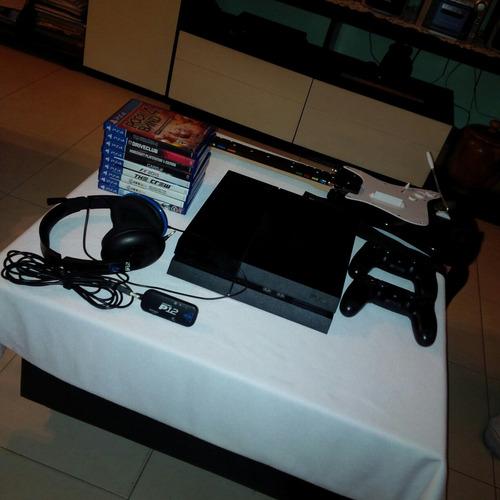 ps4 combo playstation 4 500gb+7 juegos+audifonos