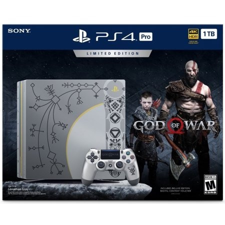 ps4 consola play station 4 pro edición limitada god of war