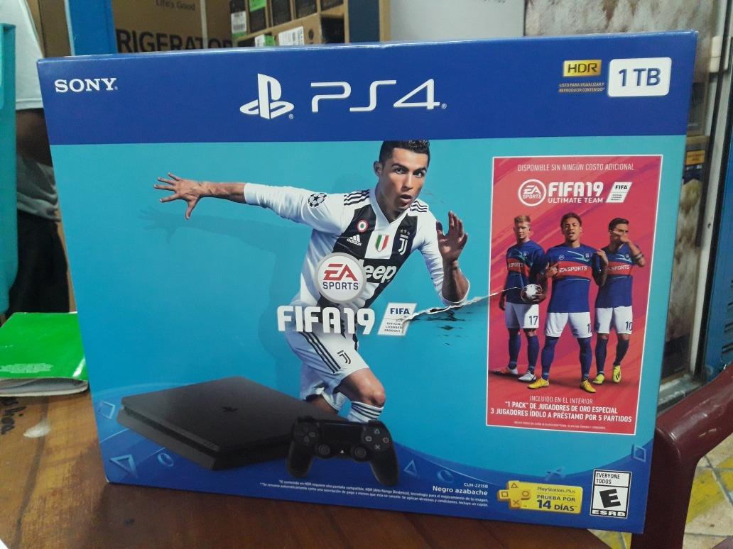 Ps4 Consola Playstation 4 Slim 1 Tb Juego Fifa 2019 Nuevos S