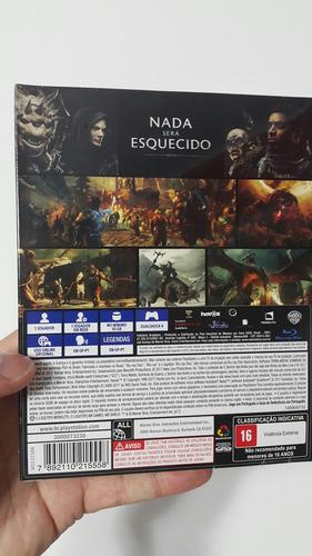 ps4 fisico shadow war ediction mapa tela dlc español sellado