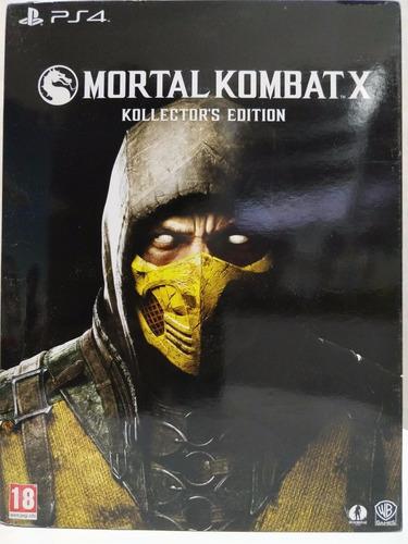 ps4 mortal kombat x: kollectors edition - lacrado
