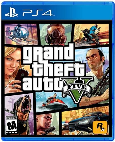 ps4 play station 4 slim hdr 1tb + juego gta v grand theft v