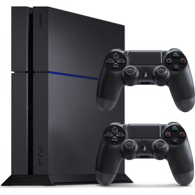 Ps4 Playstation 4 + 2 Controles Sony + 2 Jogos