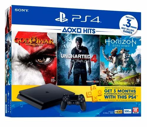 ps4 playstation 4 slim 3 jogos 500gb