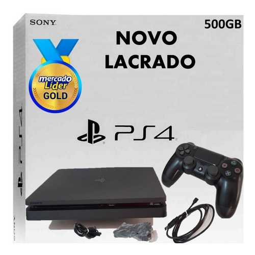 ps4 playstation 4 slim novo lacrado envio imediato hdr bi volt