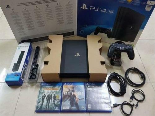 ps4 pro 1tb 4k + 3 videos juegos 2 mandos + realidad virtual