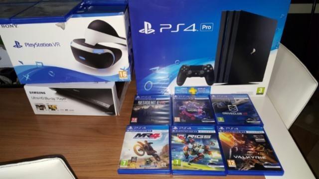 Ps4 Pro 1tb 4k Tres Juegos 2 Mando Realidad Virtual U S