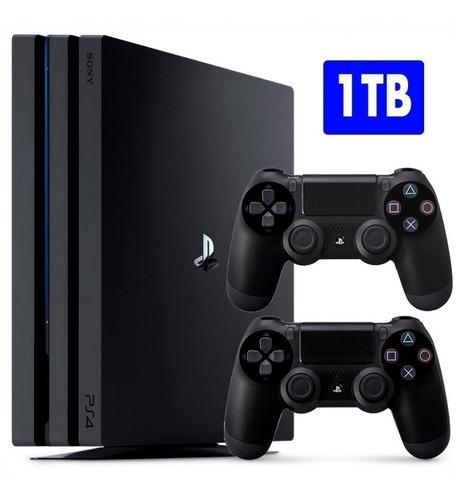 ps4 pro playstation 4 pro 1tb com 2 controles em campinas sp