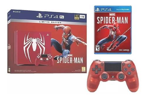 ps4 pro sony playstation 4 pro spiderman edicion especial
