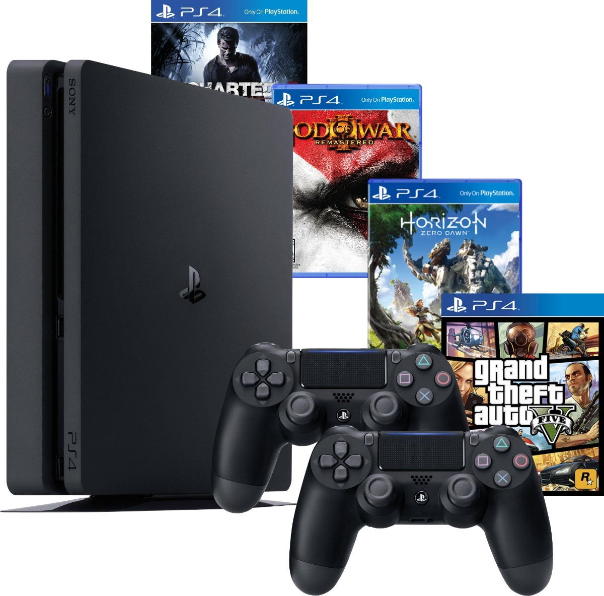 ps4 slim 1tb com 2 controles gta 5 3 jogos m dia f sica r em mercado livre. Black Bedroom Furniture Sets. Home Design Ideas