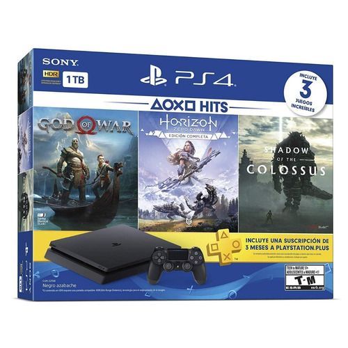 ps4 slim 1tb hits bundle 4 gow horizon shadow envio gratis