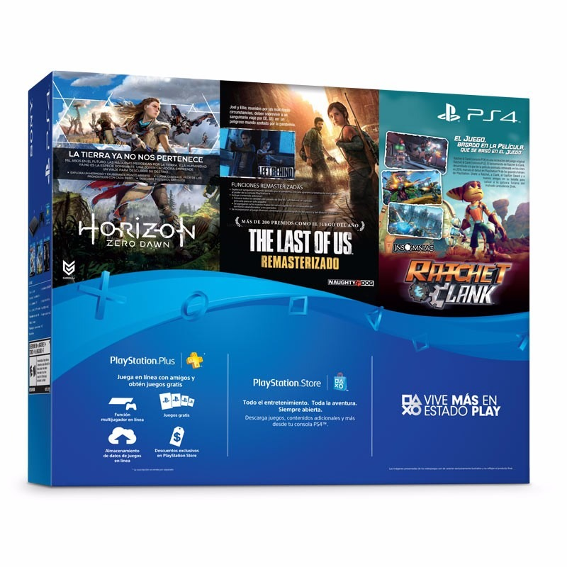 Ps4 Slim 500 Gb Hits 1 3 Juegos 1 Joystick 14 999 00 En