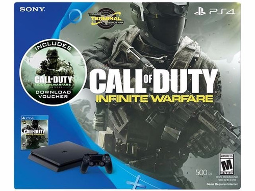 ps4 slim 500gb con call of duty infinite warfare + mw remast