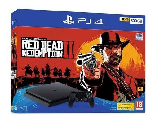 ps4 slim 500gb + red dead redemption 2 nuevo + envio gratis