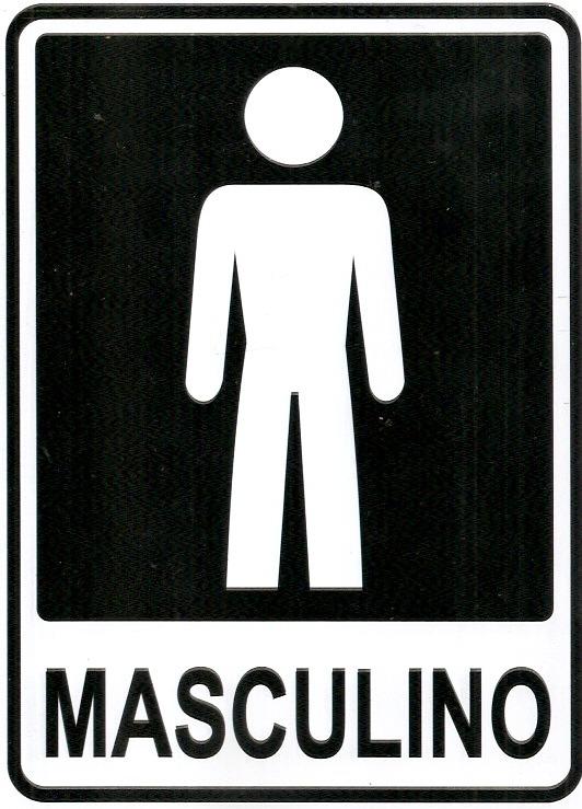 Ps5 Placa Banheiro Feminino E Masculino 2 Placas Pvc  R$ 14,90 em Mercado Livre -> Sinalizacao Banheiro Feminino E Masculino