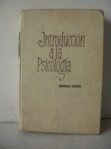 psi introduccion a la psicologia - gemelli zunini- año 1953