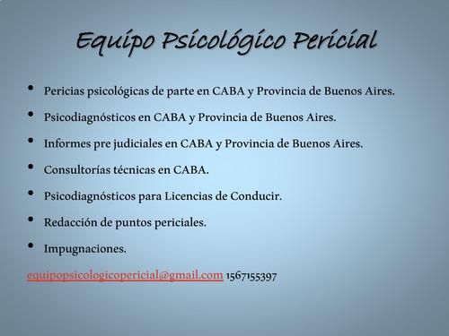 psicodiagnósticos y pericias psicológicas