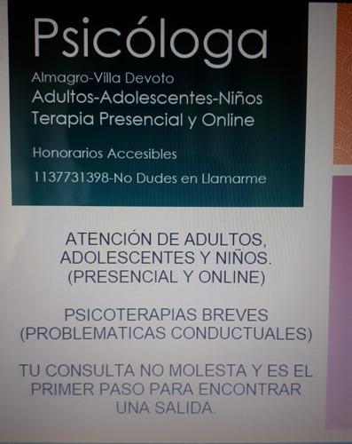 psicóloga almagro/villa crespo/villa devoto