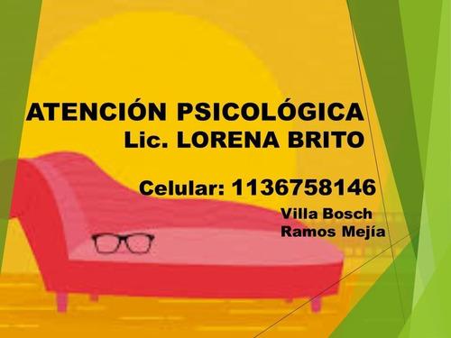 psicóloga: zona martín coronado , villa bosch , ramos mejia