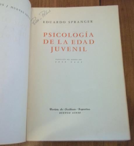 psicología de la edad juvenil, eduardo spranger.