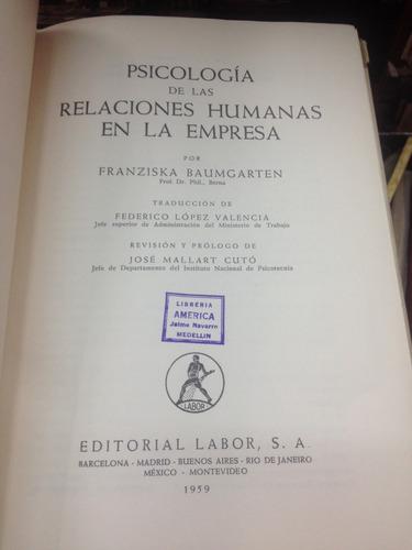 psicologia de las relaciones humanas en la empresa - labor