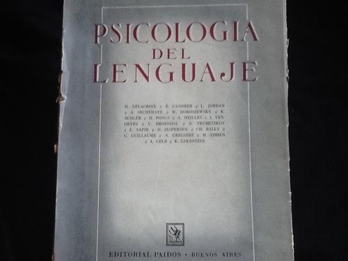 psicología del lenguaje - cassirer, delacroix meillet otros.