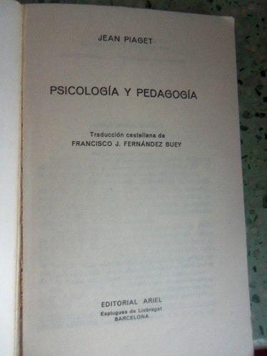 psicologia y pedagogia jean piaget