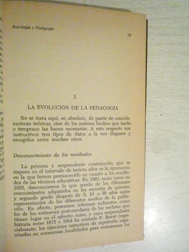 psicología y pedagogía. jean piaget. sarpe. 1a ed. 1983.